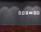 "Installation view of exhibition ""Painting as Shooting"" by Liu Xiaodong 6,4"