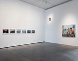 "Installation view of artworks ""Painted Picture of Hometown Boy 1,2,3,4,5,6"", ""Self Portrait"" and ""Xuzi at Home"" ofexhibition Liu Xiaodong Painting as Shooting"