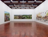 "Installation view of exhibition ""Painting as Shooting"" by Liu Xiaodong 8"