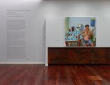 "Installation view of exhibition ""Painting as Shooting"" by Liu Xiaodong 1"