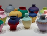 "Installation view of artwork ""Colored Vases"" by  Ai Weiwei of exhibition Ruptures 9"