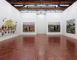 "Installation view of exhibition ""Painting as Shooting"" by Liu Xiaodong 9"