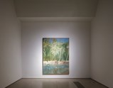 Installation view of artwork Pelican by Peter Doig