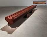 "Installation view of artwork ""Bench"" and ""Straight"" by  Ai Weiwei of exhibition Ruptures 10"