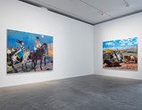 "Installation view of artwork ""Diary of an Empty City 1"" and ""Diary of an Empty City 3"" of exhibition Liu Xiaodong Painting Shooting"