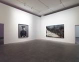 "Installation view of artwork ""My Dream: Little General"" by Zhang Xioagang and ""The Land is so Rich in Beauty 2"" by Zeng Fanzhi ofexhibition I Look at Things... 10"