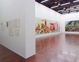 "Installation view of exhibition ""Painting as Shooting"" by Liu Xiaodong 2"