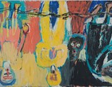 "Photo of artwork ""Der Brückechor"" by Georg Baselitz of exhibition I Look at Things..."