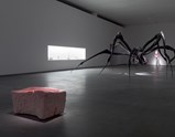 "Installation view of artwork ""Nature Study #5"", ""Crouching Spider"" and ""Nature Study"" by Louise Bourgeois of exhibition Alone and Together 4"