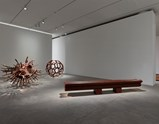 "Installation view of artwork ""Grapes"", ""Divina Proportio"", ""Bench"" and ""Straight"" by Ai Weiwei of exhibition Ruptures 3"
