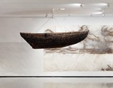 "Photo of artwork ""Freja"" and ""Nordic Habour"" by Cai Guo-Qiang of exhibition A Clan of Boats 5"