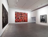 "Installation view of artwork ""Seeds"" by Zhan Huan, ""Mase Series: Looking for Paradise - Mao Xinglan"" by Yuw Minjun and ""MY Dream: Little General"" by Zhang Xiaogang of exhibition I Look at Things... 9"