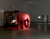 "Installation view of artwork ""In and Out"" and ""Cell XXILV (Portrait)"" of exhibition Louise Bourgeois Alone and Together"