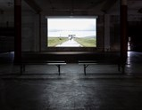 Installation view of Cinema by Liu Xiaodong of exhibition Painting as Shooting