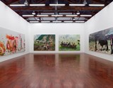 "Installation view of exhibition ""Painting as Shooting"" by Liu Xiaodong 3"
